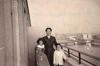 Diana Bobby and Marian - Balcony - Normandie Hotel - Le Havre France- July 1955